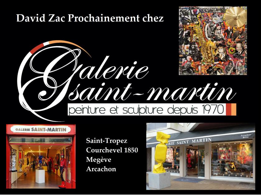 David Zac Prochainement Chez Galerie Saint Martin