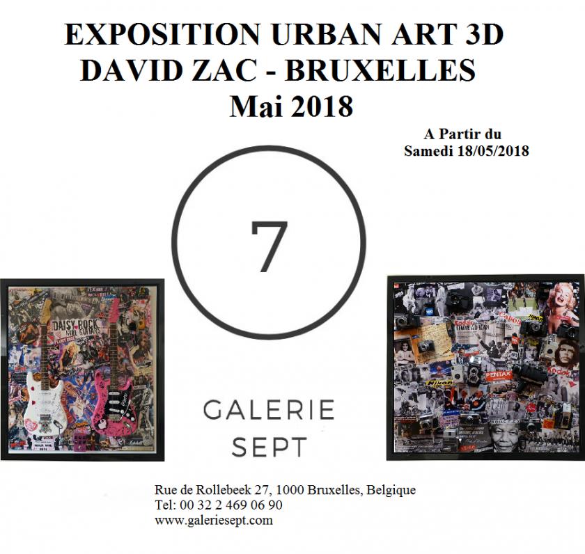 Nouvelle Exposition David Zac à Bruxelles