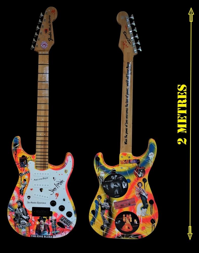 Fender Make History: Hendrix: 2 métres x 70 cm